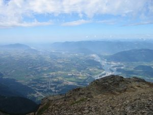 Photo of the Fraser Valley from atop Mt. Cheam